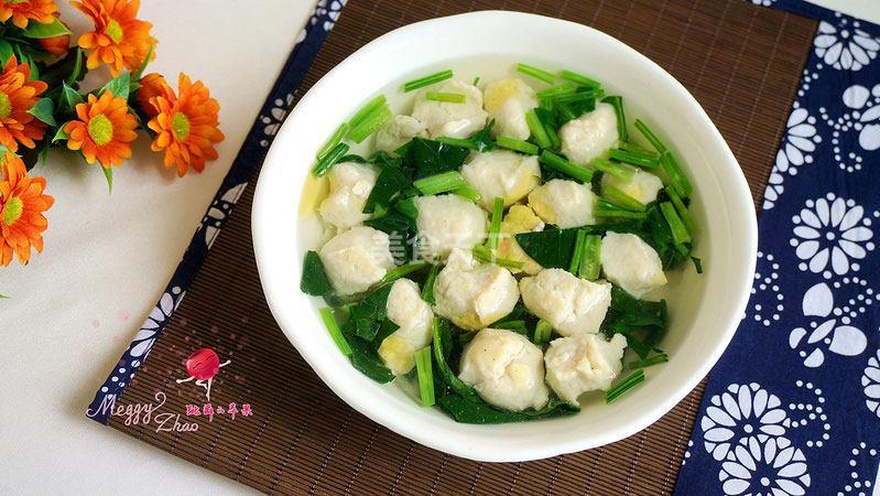 鸡肉丸菠菜汤--料理机食谱